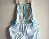 Vintage Circus Sunsuit Romper Playsuit for party or cake smash portrait  or high tea for baby up to 6T Costume