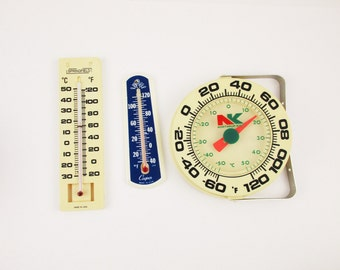 Your Choice - Vintage Indoor/Outdoor Thermometers -  1970's - Springfield, Cooper or Northrup King - Thermometer