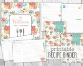 Printable Recipe Binder - Family Recipe Binder Cookbook