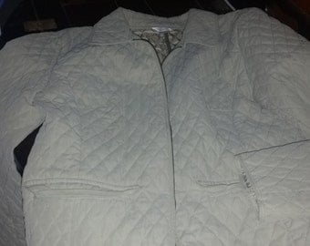 Christopher&Banks Quilted Earth Green Jacket  Zipper size S