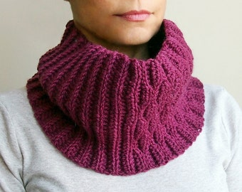Crochet PATTERN cowl, neckwarmer, loop scarf, man, woman, couples, knit look DIY photo tutorial