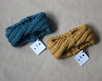 SALE super chunky kid  knitted twisted headband,  ready to ship