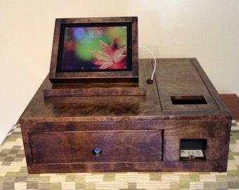 Custom Cash Box and Tilting iPad Stand