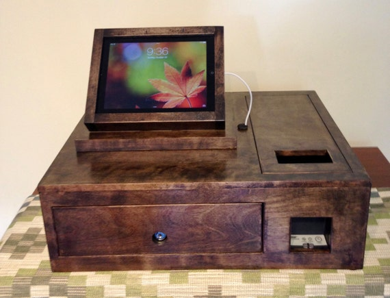 Custom Cash Box and Tilting iPad Stand