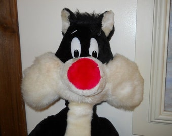Vintage Sylvester Cat Stuffed Toy Tweety Warner Bros Plush Doll