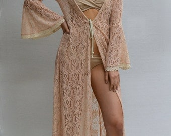 Paisley Duster in Champagne