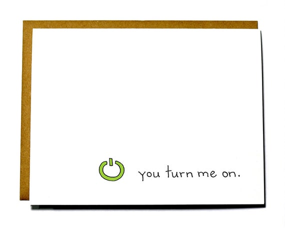 Funny, Geeky Valentine's Day card. You turn me on - Xbox I love you card
