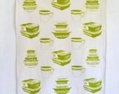 SALE Tea Towel: Vintage Pyrex Spring Blossom Crazy Daisy All Over Print, New Design, Fridgies, Stacking Bowls, Pyrex Mug, Cinderella Bowls