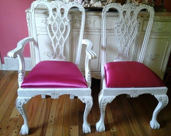 Shabby chic chippendale armchair