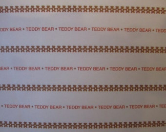 Stationery Sheets Teddy Bear Vintage - 28