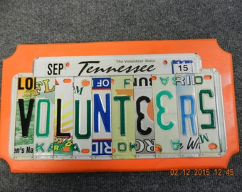 Tennessee Volunteers  License Plate Sign for Tennessee Volunteers (Made to Order)