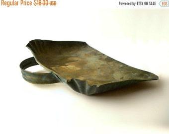 Antique Brass Ash Dust Pan Shabby Decor