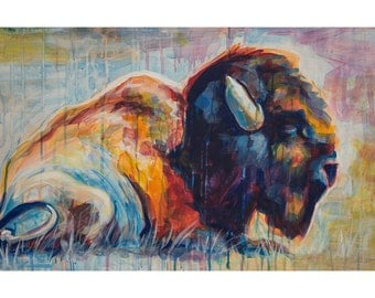 Bison Print  11x17 inches