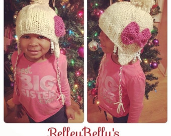The Snickerdoodle Hat with Pink Bow