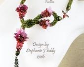 Flora Hybrida Braid Tutorial by Stephanie Eddy aka Fill the Gap, similar to Kumihimo