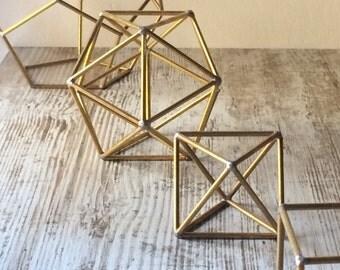 Set 5 platonic solids  Polyhedron  Sacred geometry dodecahedron icosahedron octahedron hexahedron tetrahedron