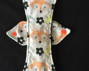 "10"" moderate minky top fox print cloth pad"