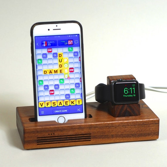 iphone apple watch docking station the tandem by schuttenworks. Black Bedroom Furniture Sets. Home Design Ideas