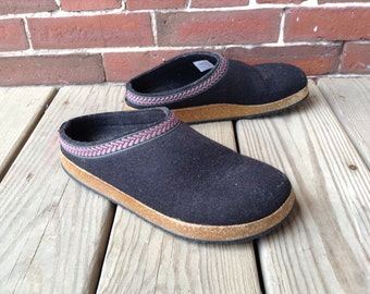 90s ll bean wool clogs sz 8