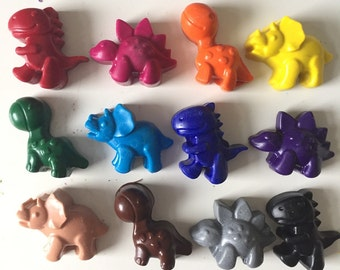 Set of 12 Dinosaur Soy and Beeswax Crayons