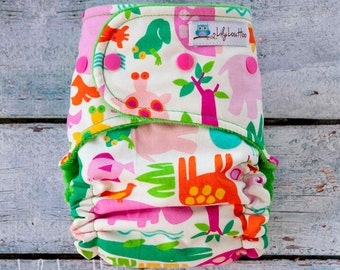 "AI2 Cloth Diaper- ""Zoo"""