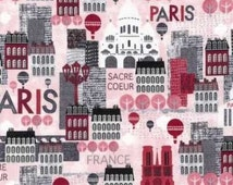 Robert Kaufman Fabric Hello Paris Pink Notre Dame Sacre Coeur France Quilting Sewing Crafting 100% Cotton