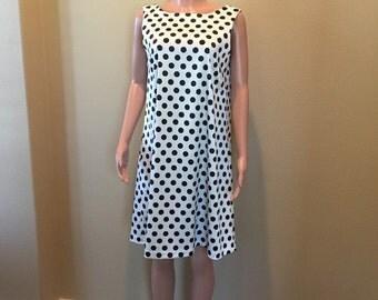 Black and White Small Polka Dot Career Dress