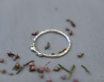 Organic Textured Silver Ring