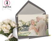 Wedding Thank You Cards | Wedding Thank You Card | Wedding Announcement | Personalized Wedding Card - PURE Printable