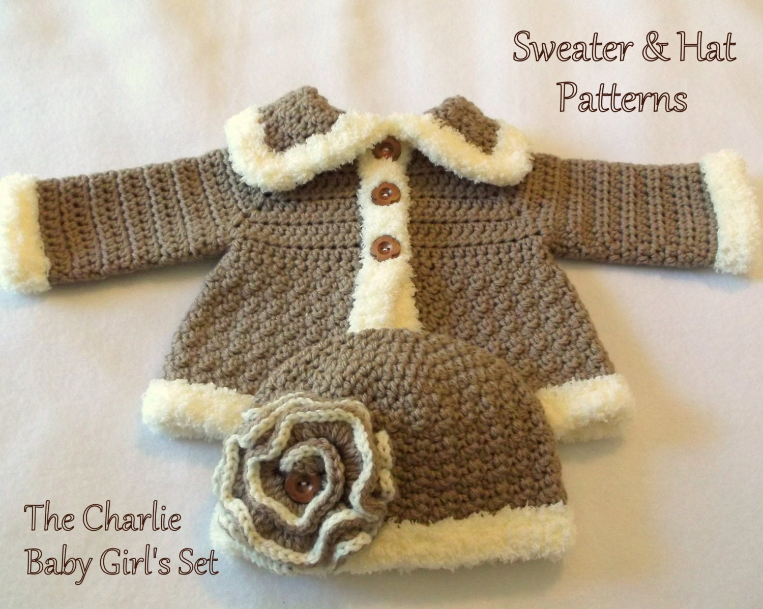 Crochet Baby Hat And Sweater Pattern : Crochet PATTERN Baby Hat and Sweater by SatisfyYourYarnings