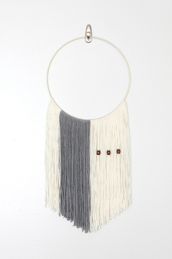 Items similar to large neutral yarn macrame wall hanging for Minimalist wall hangings