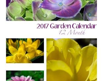 2017 Garden Calendar, Digital Download
