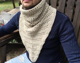 Men Scarf / Crochet Mens Scarf / Mens Gift / Gift For Men / Crochet Cowl for Men /
