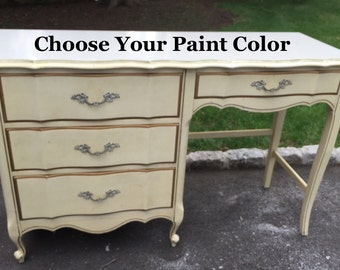 French Provincial Desk or Vanity - Choose your Paint Color!