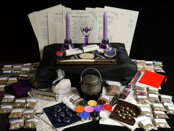Huge witches starter kit with wand herbs by for Wand making kit
