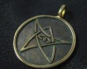 Bronze Elder Sign pendant