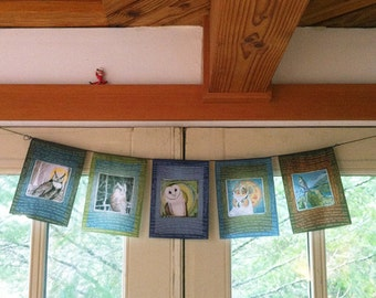Owl Prayer Flags_Birds of Wisdom