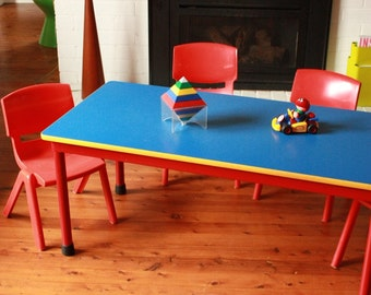 SOLD SOLD Vintage Sebel Children's Activity Table and 4 Postura chairs
