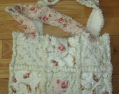 Shabby Chic RACHEL ASHWELL Fabric Rag Quilt Diaper Bag / Tote Vintage Rose Collection