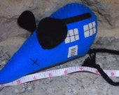 Mega-Mouse One Handmade Large Geeky Catnip Mouse Toy TARDIS Inspired