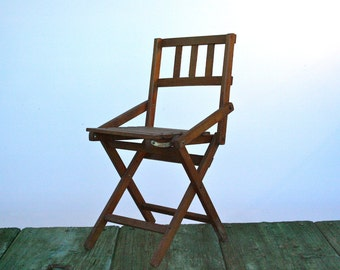 Italian children's wooden folding chair