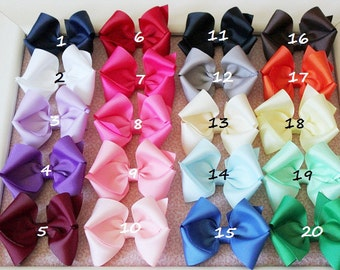 Girls hair bows - set of 5 - Toddler Hair Bows- Birthday gift   /  - You can choose colors
