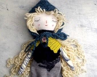Pixie Doll, Rag Doll, OOAK Doll, Cloth Art Doll, Heirloom Doll, Gift for Girls