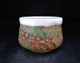 ChingWenArts  Stoneware Japanese Tea Bowl Water container,  Signed, E014