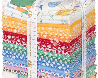 Robert Kaufman-Just One Of Those Days 1930's Rerproduction Prints Fat Quarter Bundle by Darlene Zimmerman