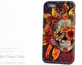 Floral Skull iPhone 6 6s Case - Origins Botaniskull - Day of the Dead iPhone 6s skull case - Dual Layer TOUGH Case for iPhone 6s