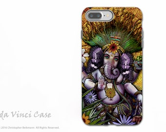 Ganesha Maya - iPhone 7 Plus Tough Case - Dual Layer Protection - Hindu Mayan Ganesh artwork