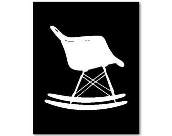 Chair silhouette Egg Chair arne jacobsen Wall Art