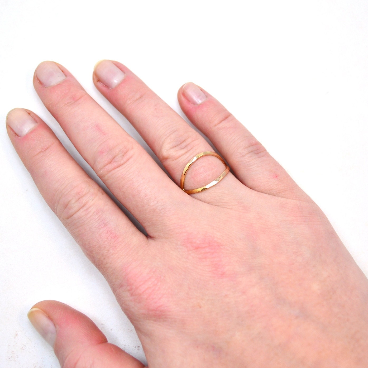 Gold X Ring. Hammered Criss Cross Ring. Crossover Statement Ring ...