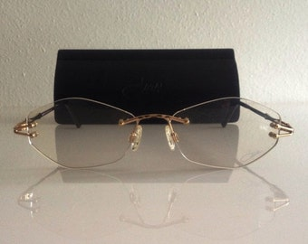 ON SALE 1980s Women's Designer Cazal Eyeglasses / Frames / Glasses